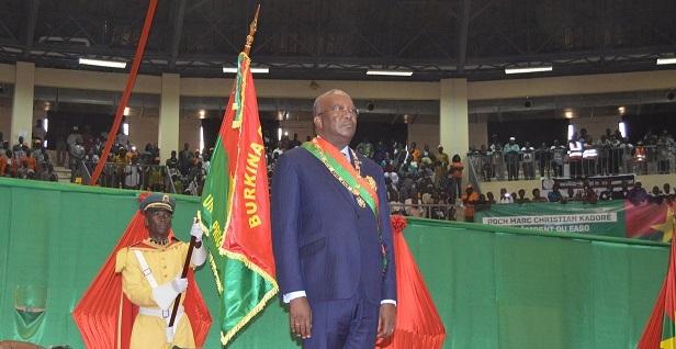Roch Marc christian Kabore, Président du Faso investi des pleins pouvoirs