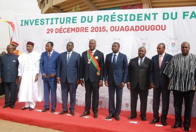 De nombreux chefs d'Etat africains ont honoré de leur présence l'investiture de Kaboré