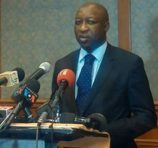 Le Premier ministre Paul Kaba Thiéba lors de son adresse à la presse ce 7 janvier à Laico