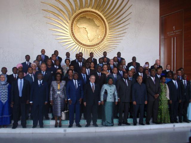 Photo de famille à l'ouverture de la 28e session du conseil exécutif de l'Union africaine