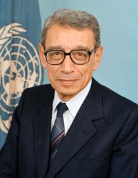 Boutros Boutros Ghali que l'on pleure a été secrétaire général de l'ONU de 1992 à 1996