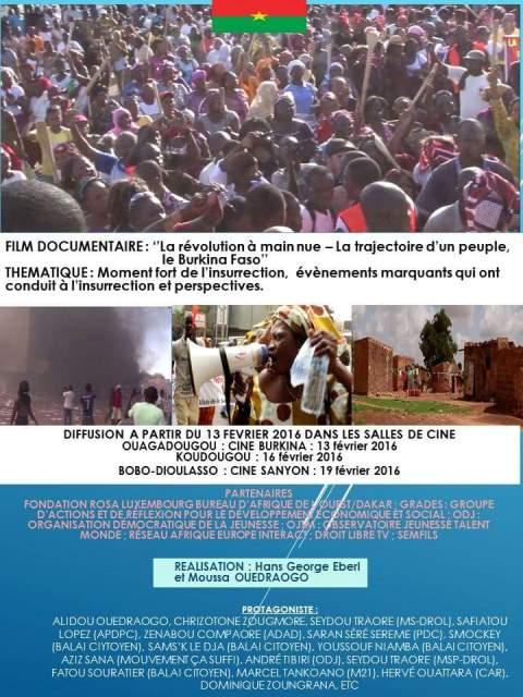 Documentaire à voir dans les salles de ciné de Ouaga à partir de ce samedi 13 février