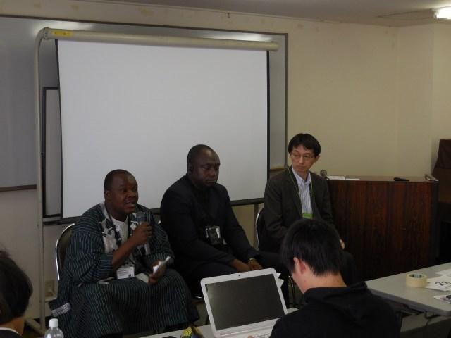 Oumarou Paul Koalaga a livré aussi une communication sur le rôle de la société civile sur l'évolution de la situation politique au Burkina Faso