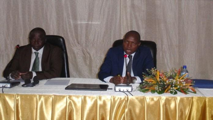Le ministre Alfa Oumar Dissa, lors de sa communication sur le thème de la SAMAO 2016