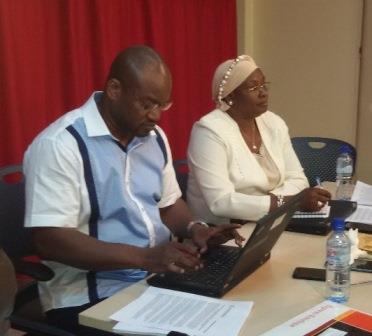 Des membres de l'équipe de la Banque mondiale Ouaga