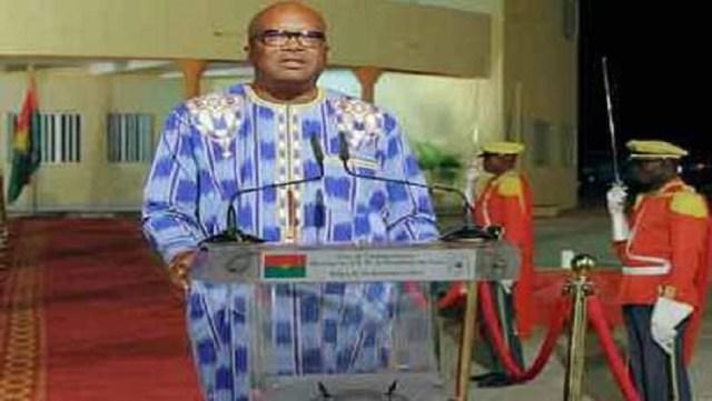 Le président Roch Marc Christian Kaboré lors de son adresse à la Nation