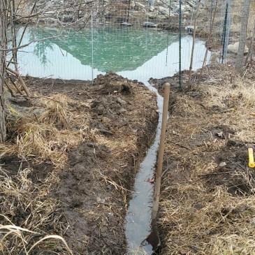 Farm water overflowing!