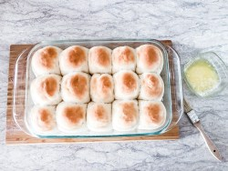 homemade buns with butter