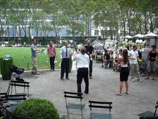 Jugglers in Bryant Park