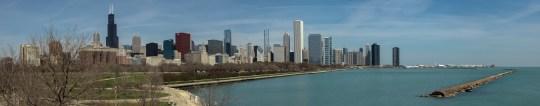 Chicago as seen from Shedd Aquarium