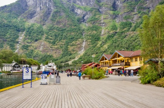 Flåm waterfront, Norway