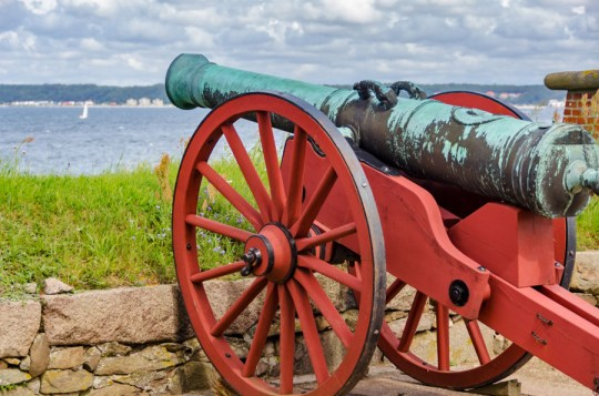 Artillery at Kronborg Castle, Helsingor, Denmark