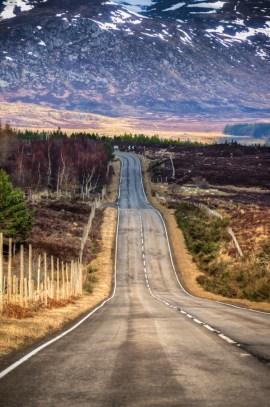 A road near Dalwhinnie, Scotland