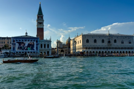 Abreast of Piazza San Marco in the lagoon, Venice