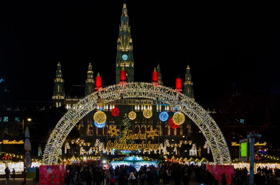 Christmas Market on Rathausplatz, Vienna