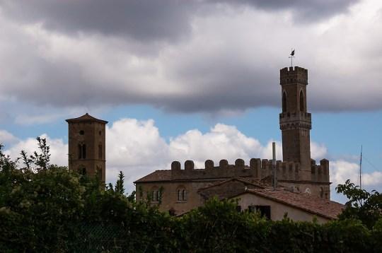 A view to Palazzo Priori, Volterra, Italy