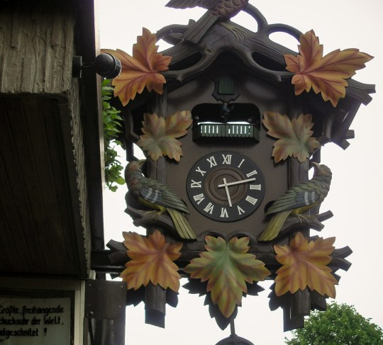 A clock in Bacharach, Rhine Valley, Germany