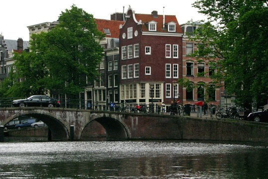 View from a canal, Amsterdam
