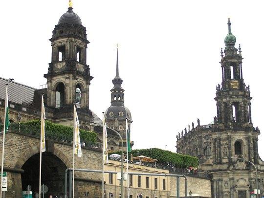 Bruhlsche Terrasse and Hofkirche, Dresden