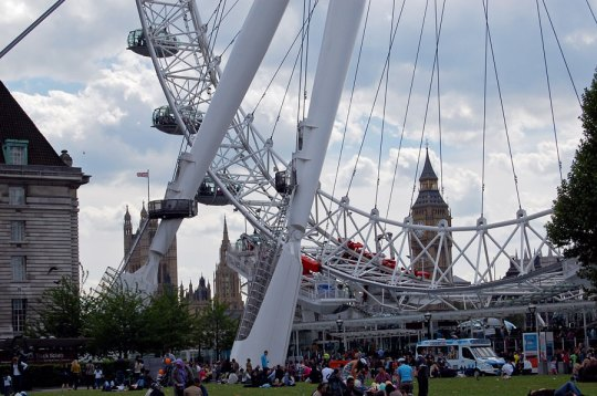 View from the playground by the London Eye