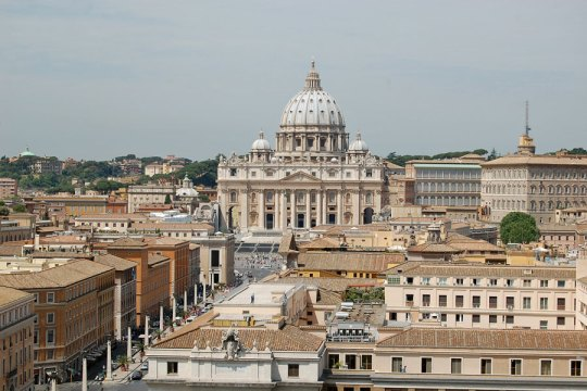 View to Vatican from Castel SantAngelo, Rome