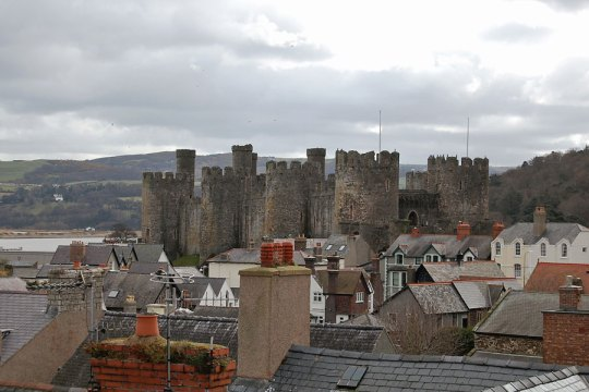 View to Conwy Castle, Wales