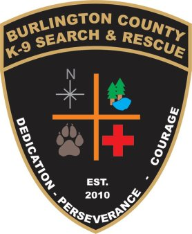 Burlington County K-9 Search & Rescue Team Logo Color