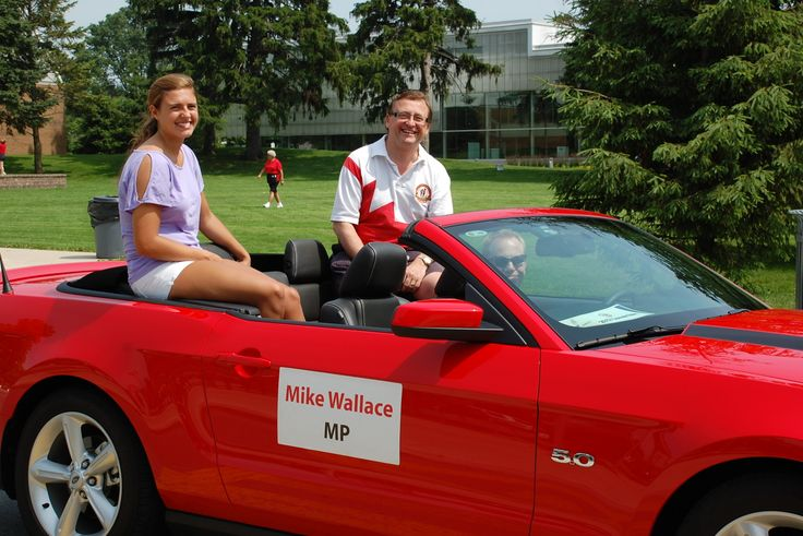 Mike & daughter Lindsay in Sound of Music Parade June 2013