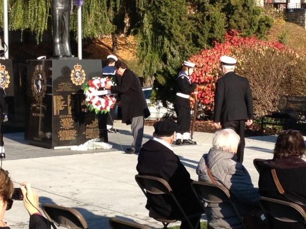 Naval Monument Wreath 2014