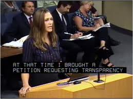 Marianne Meed Ward was just a citizen when this picture was taken - now she is on the other side of the podium, sitting as a Council member. Should make for greay political theatre when the Medicca One zoning matter comes before committee.