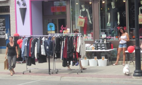 There are retailers that get it - and they are the one's that succeed. The shopping bag that lady is carrying isn't empty. The folks that run Joelle's understand retail. There were far too many stores closed.