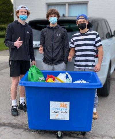 Food bank - three young men