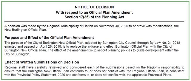 Notice of Deciision Nov 30