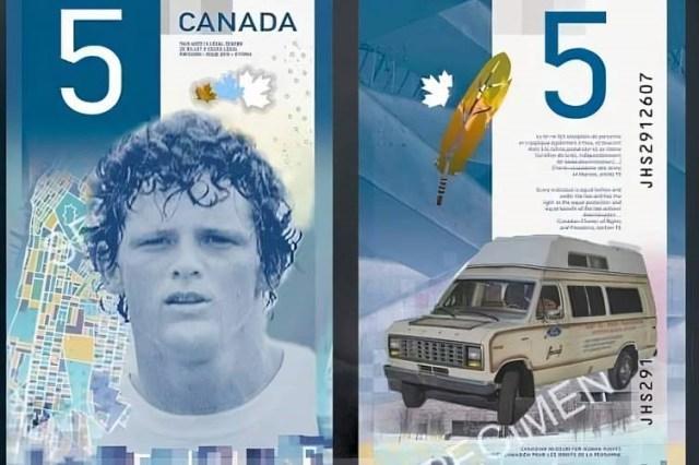 Terry Fox five dollar bill