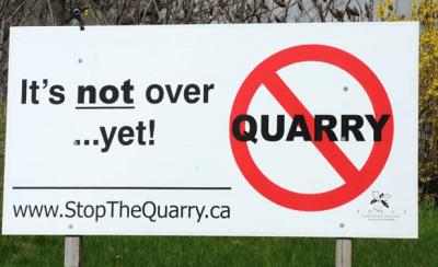 quarry stop sign