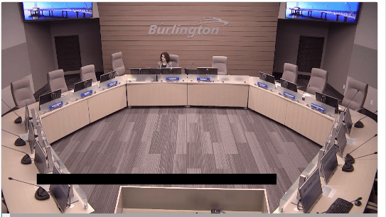 Council chamber - new look