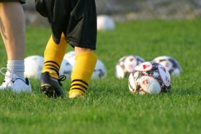 soccer balls + leg
