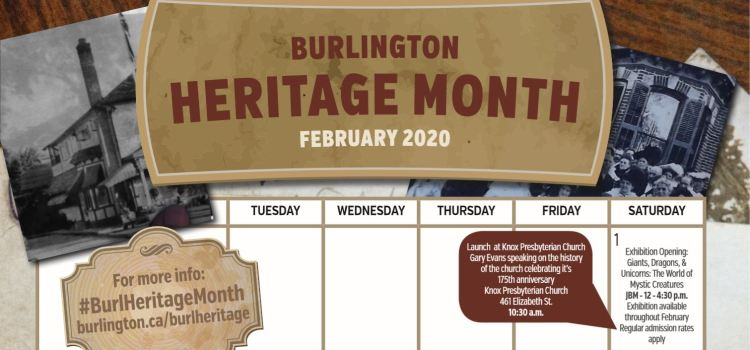 Burlington Heritage Month, February 2020