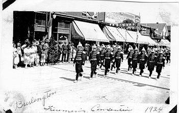 Firemens' Convention parade on Brant Street, 1924