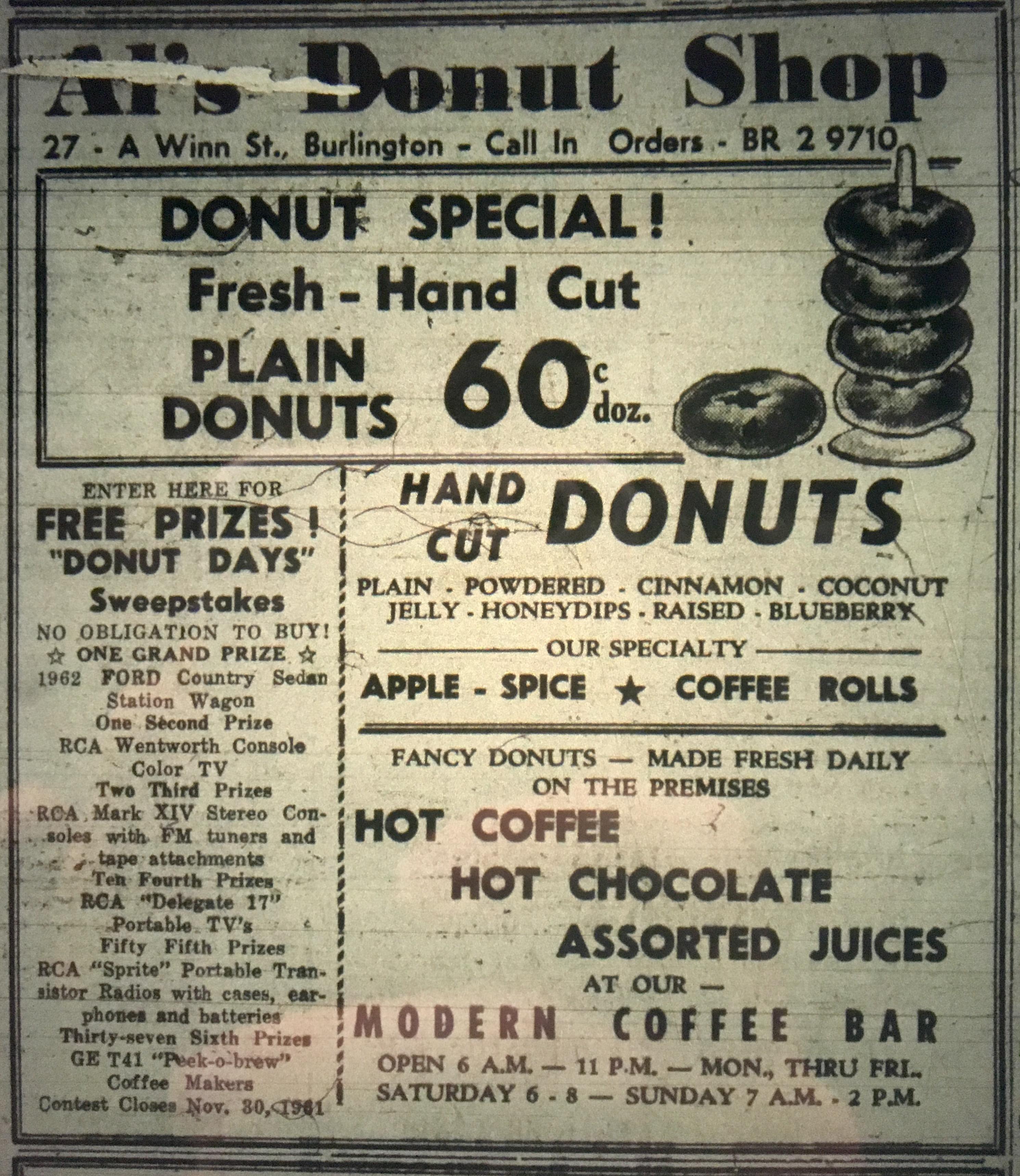 Al's Donut Shop, Burlington, MA