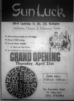 Sun Luck grand opening, Burlington MA
