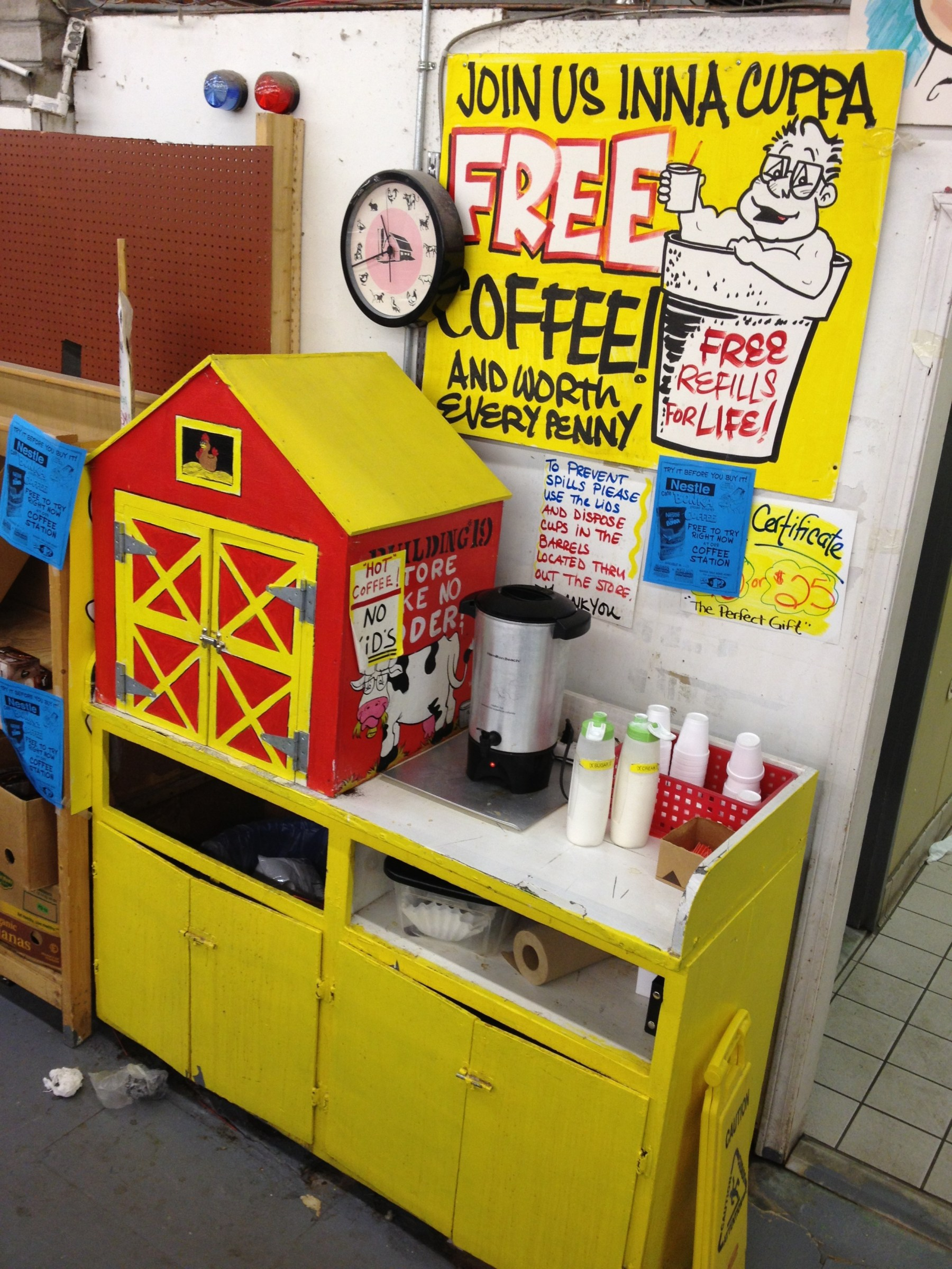 Building 19 1/2 coffee machine, Burlington MA