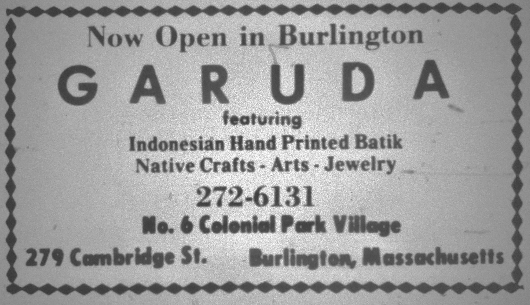 Garuda, Burlington MA