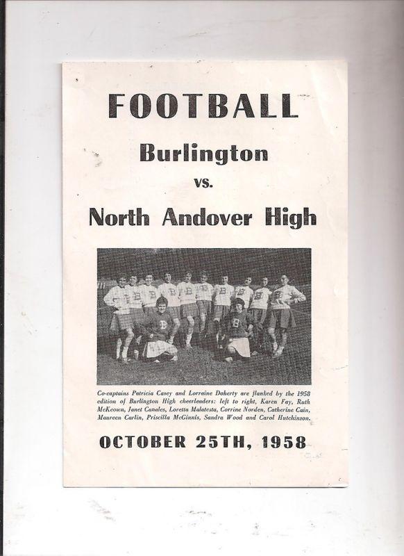 Burlington football vs North Andover High