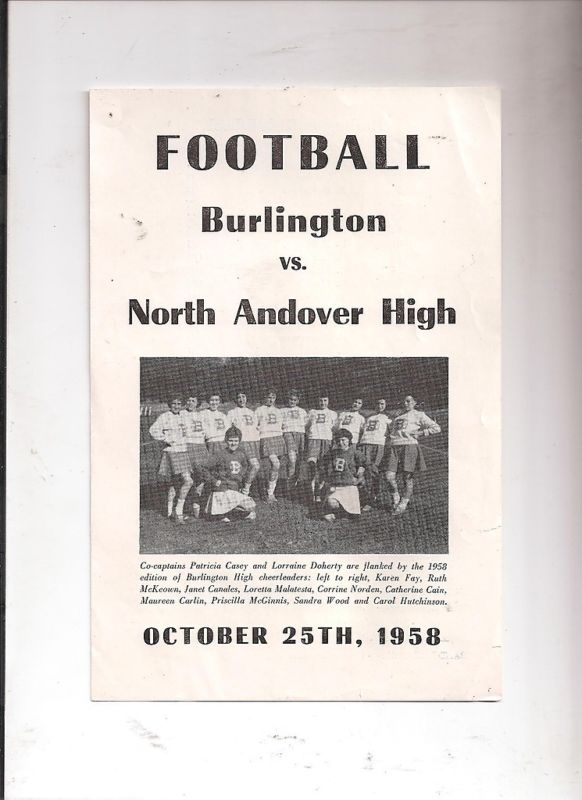Burlington football vs North Andover High