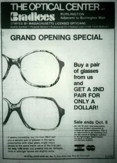 Bradlees optical center, Burlington MA