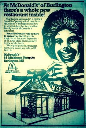 McDonald's Burlington MA Middlesex Turnpike