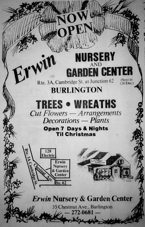 Erwin Nursery, Burlington MA