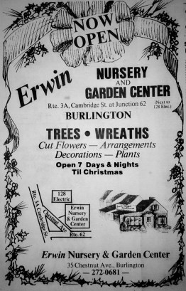 Erwin Nursery, Burlington MA