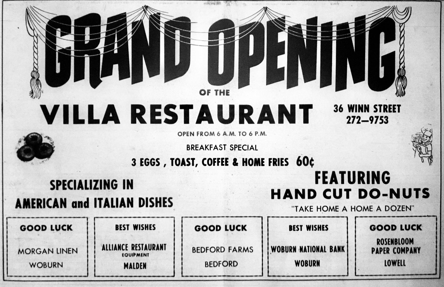Villa Restaurant Burlington MA